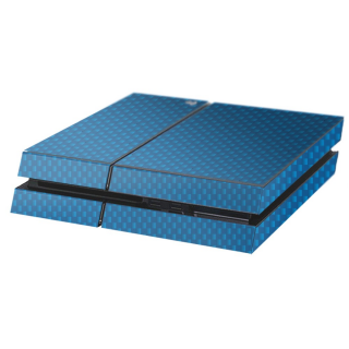 Carbon Blauw Playstation 4 Console Skin