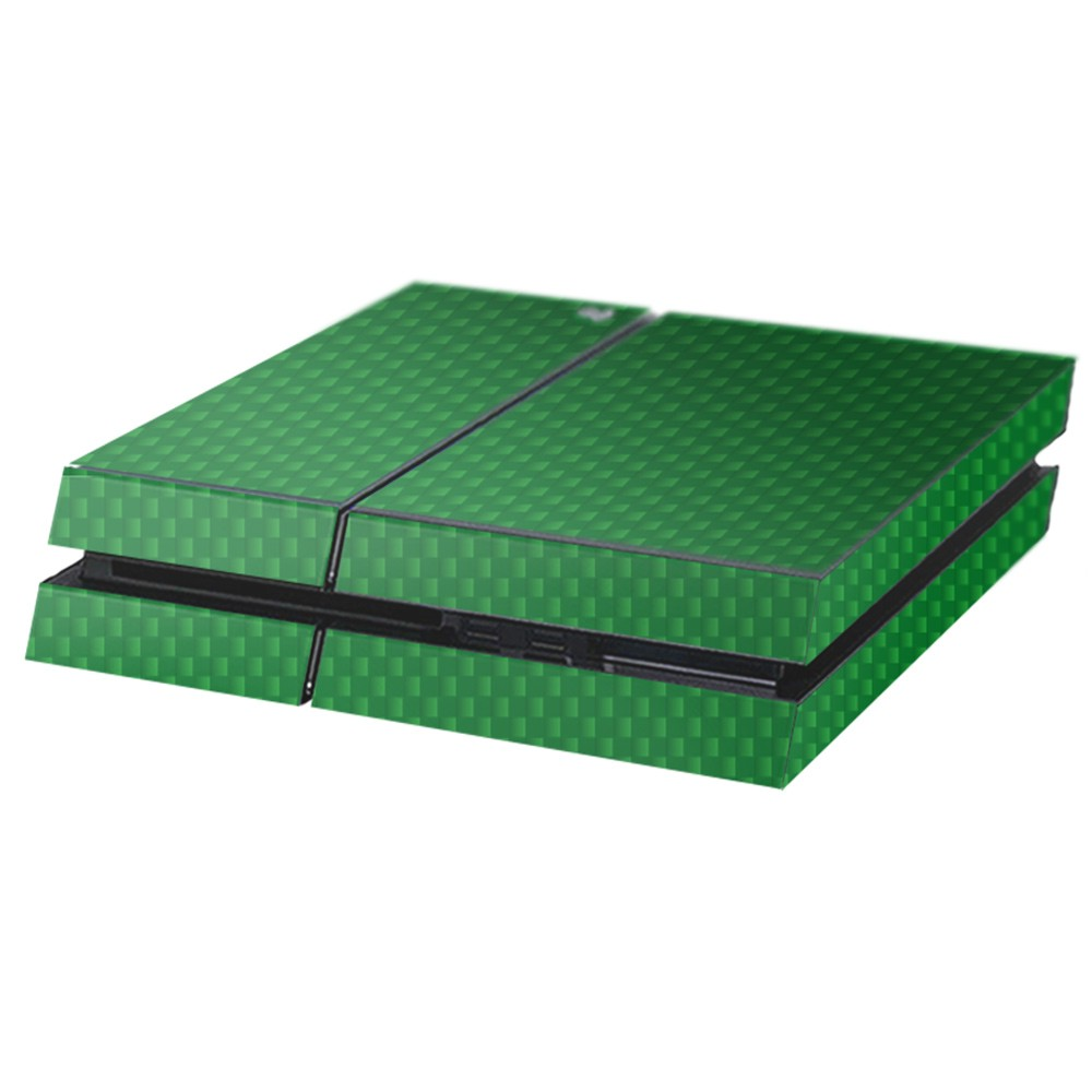 Carbon Groen Playstation 4 Console Skin
