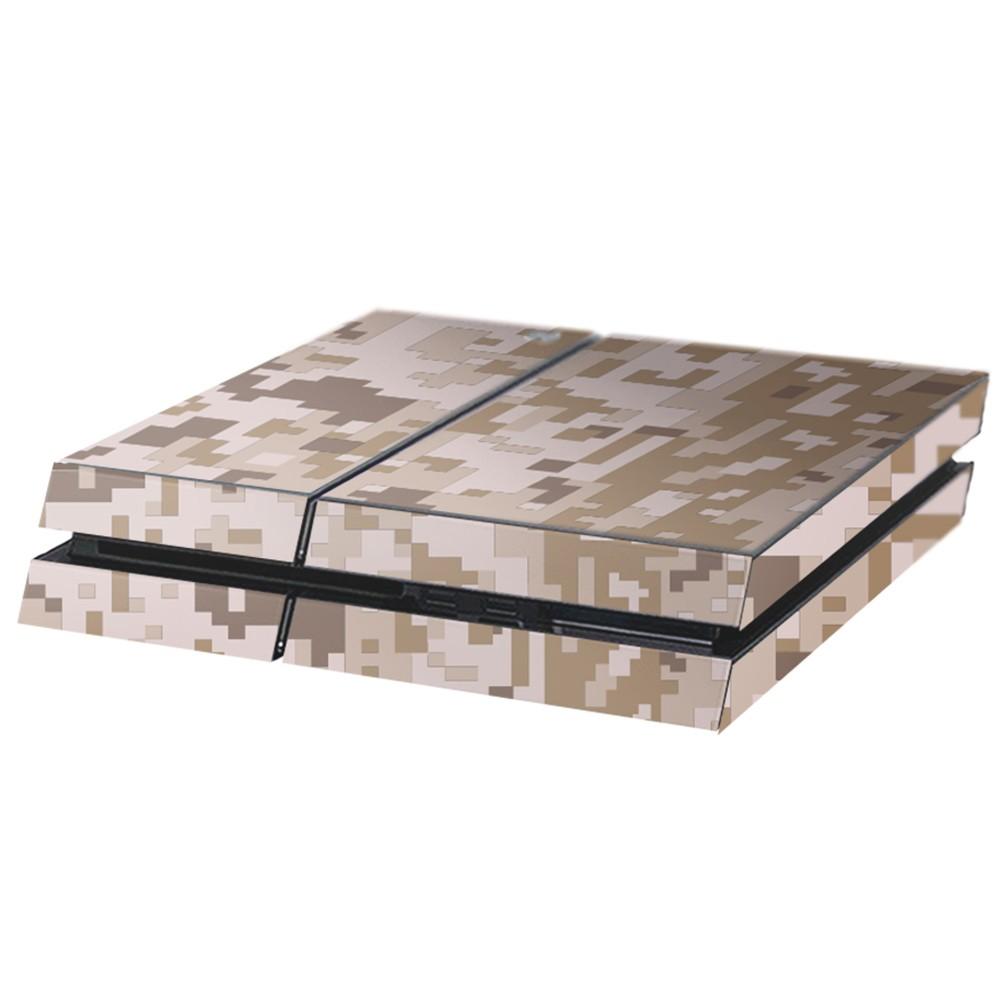 Digital Camo Desert Playstation 4 Console Skin
