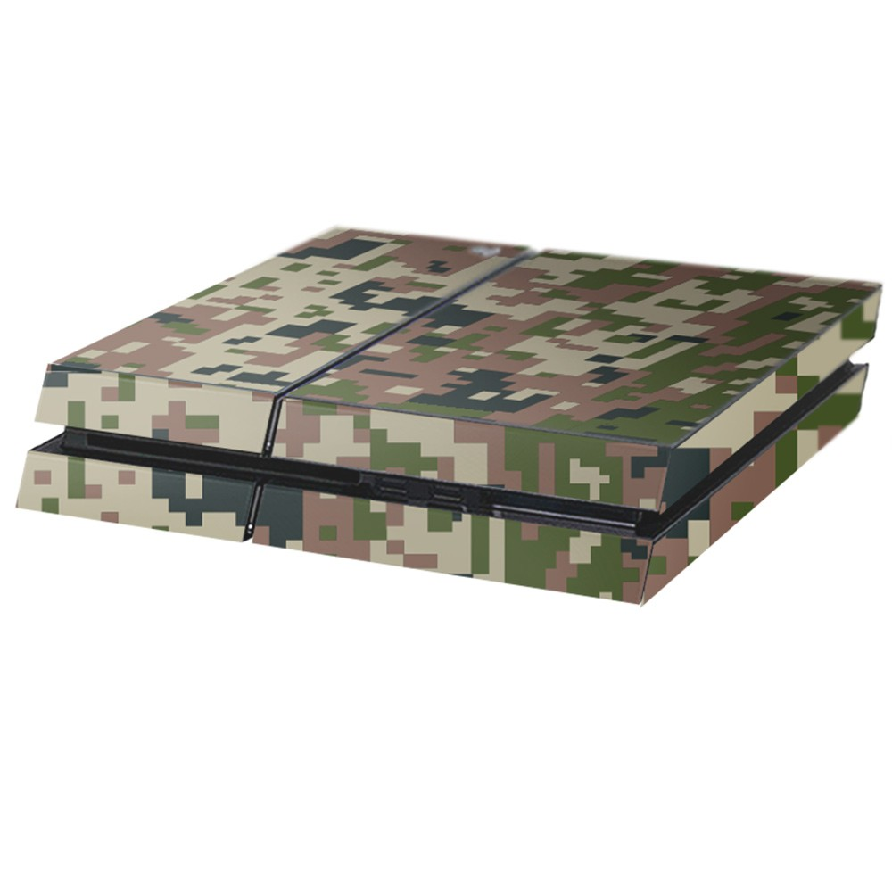 Digital Camo Forest Playstation 4 Console Skin