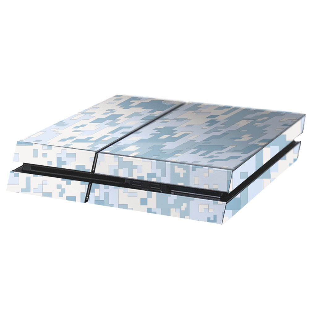 Digital Camo Snow Playstation 4 Console Skin
