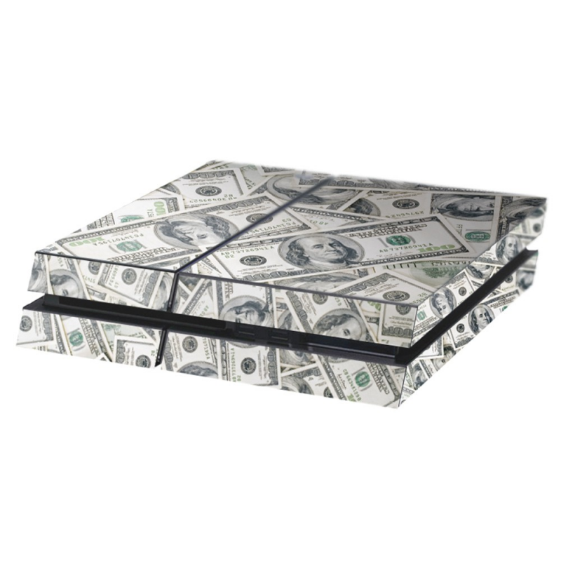 Dollars Playstation 4 Console Skin