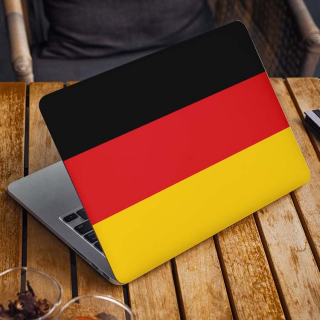 Duitse Vlag Laptop Sticker