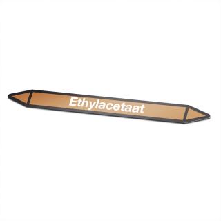 Ethylacetaat Pictogramsticker Leidingmarkering