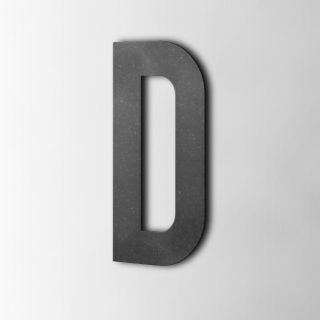 Houten Letter D Bebas Neue MDF Zwart