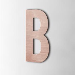 Houten Letter B Bebas Neue...