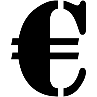 Symbool Euro sticker Stencil symbolen stickers