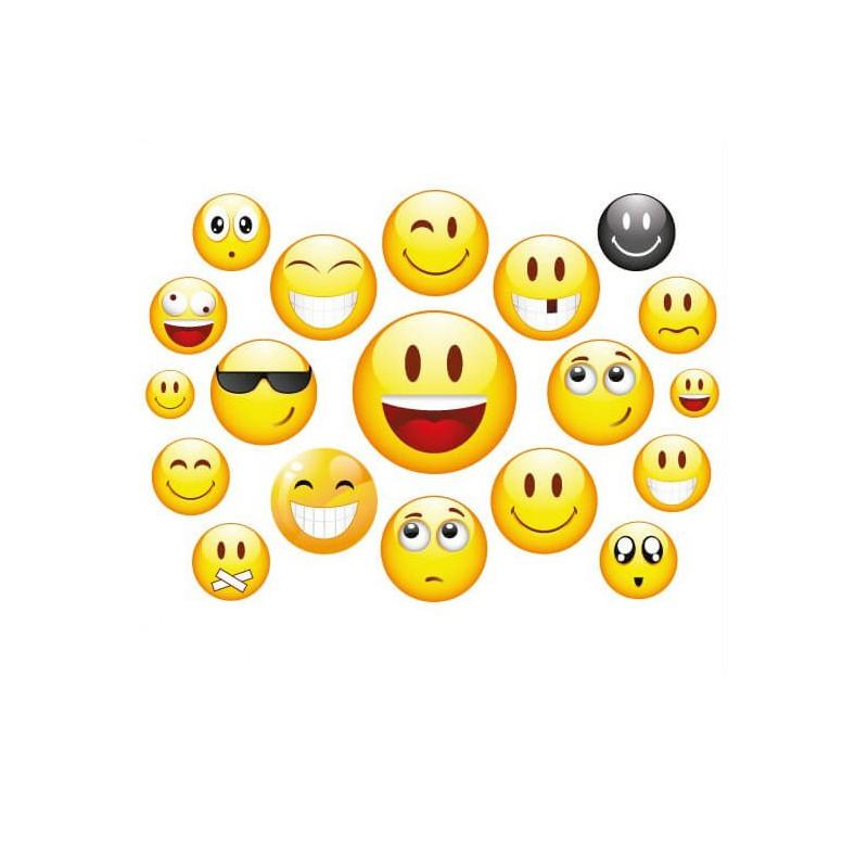 Fiets stickers smiley set