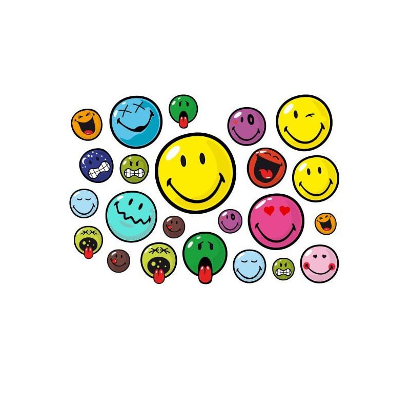 Fiets stickers smiley set Cartoon