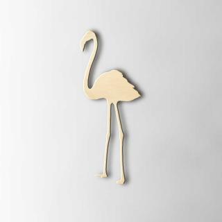 Houten Figuur Flamingo