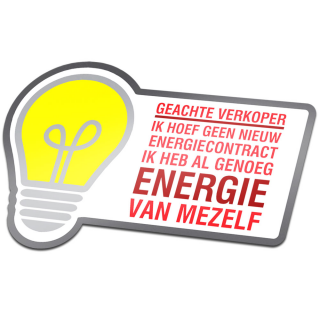 Geachte Verkoper Geen Nieuw Energiecontract Colportage Sticker