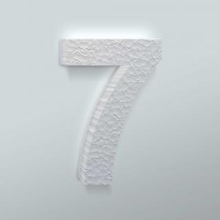 Piepschuim Cijfer 7 Arial