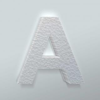 Piepschuim Letter A Arial