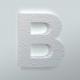 Piepschuim Letter B Arial