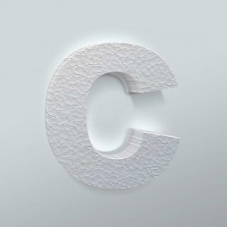 Piepschuim Letter C Arial