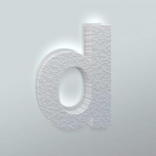 Piepschuim Letter D Arial