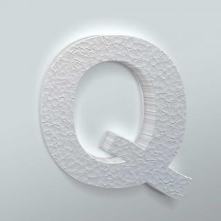 Piepschuim Letter Q Arial