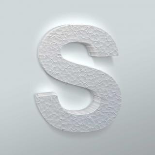 Piepschuim Letter S Arial