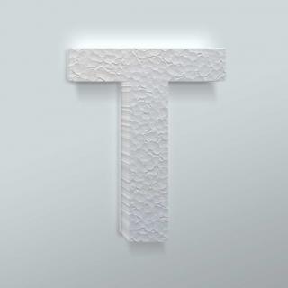 Piepschuim Letter T Arial