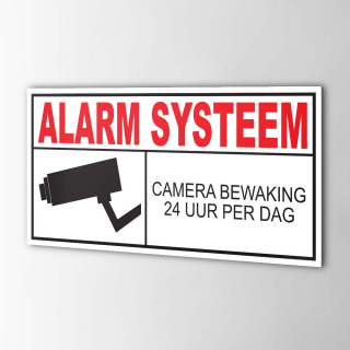 Camera Alarm Systeem Sticker