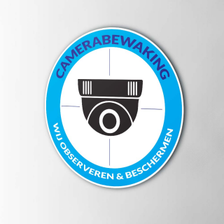 Camera beveiligingsticker...