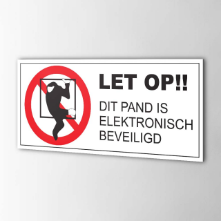Inbraakbeveiliging sticker