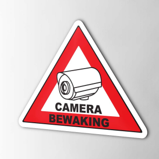 Camera Bewaking Bord sticker