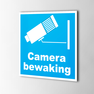 Camera Bewakingsstickers Ultrablauw