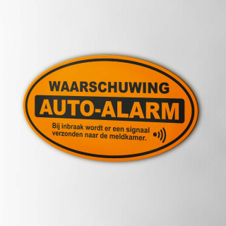 Auto Alarm waarschuwing sticker