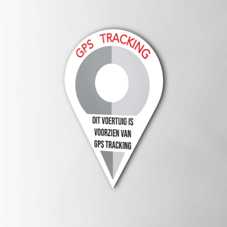 Fiets GPS Tracking Pin sticker