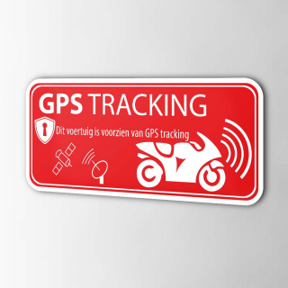 Rode Voertuig GPS tracking sticker