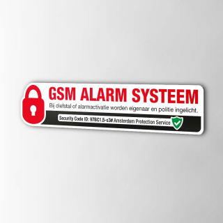 Slot GSM Alarm Systeem sticker