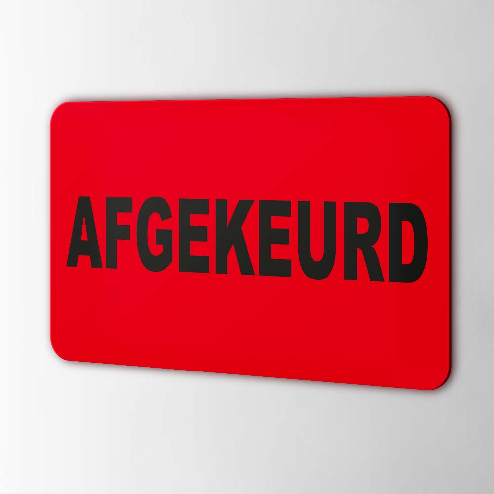 Afgekeurd Stickers Pictogrammen