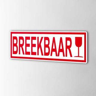 Breekbaar Stickers Pictogrammen
