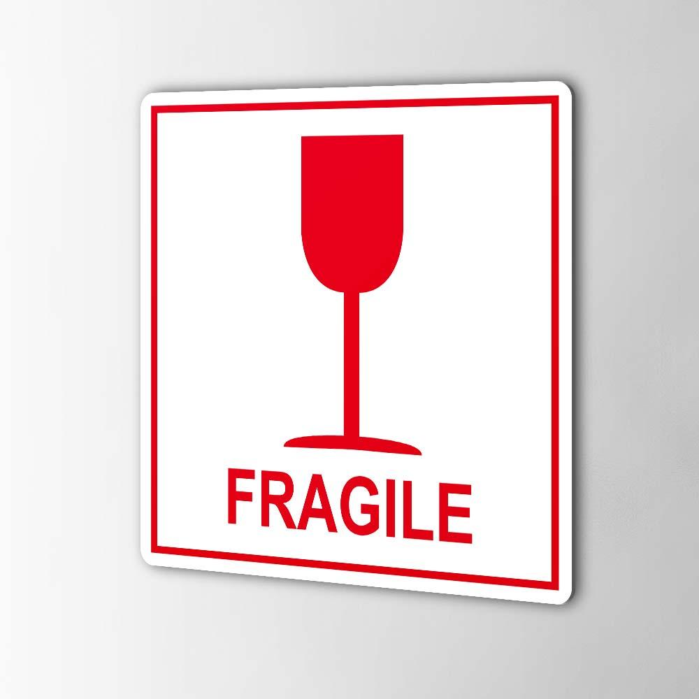 Fragile Breekbaar Stickers Pictogrammen