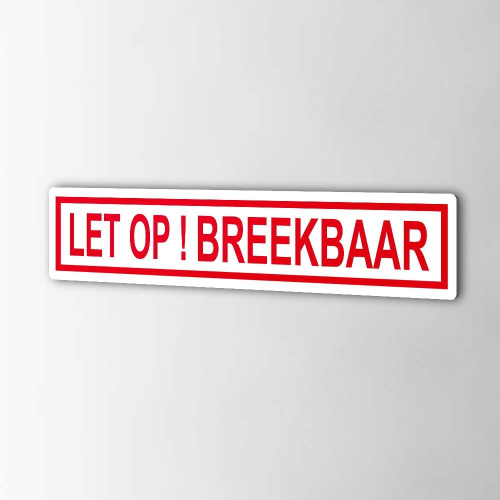 Let Op ! Breekbaar Stickers Pictogrammen