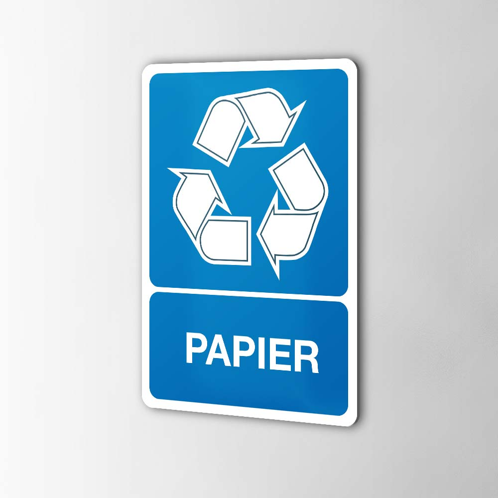 Gerecycled Papier Sticker Pictogrammen