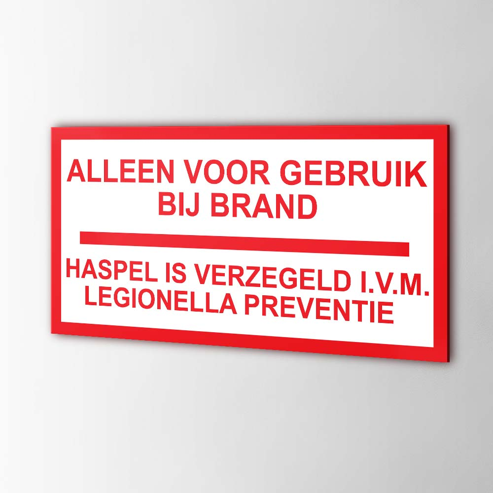Legionella Preventie Stickers Pictogrammen