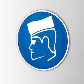 Gebodspictogram Beschermpetje verplicht sticker