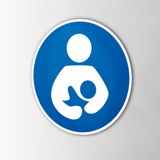 Gebodspictogram Borstvoeding plaats sticker