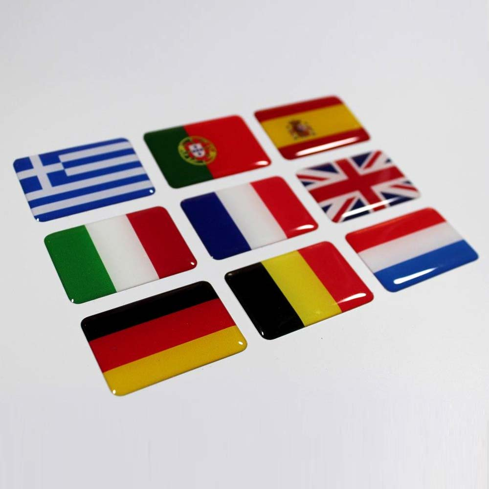 3D vlag stickers alle landen mogelijk