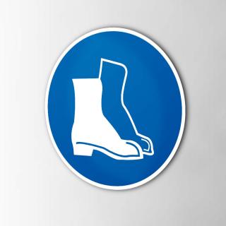 Gebodspictogram Schoenen verplicht sticker