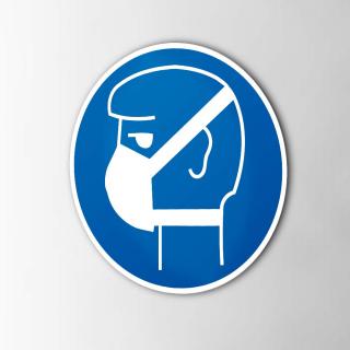 Gebodspictogram Stofmasker verplicht sticker