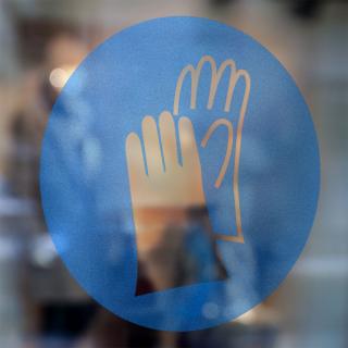 Gebodspictogram Handschoenen verplicht sticker