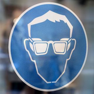 Gebodspictogram Oogbescherming verplicht sticker