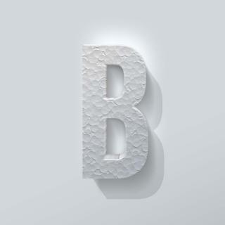 Piepschuim Letter B Bebas Neue