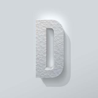 Piepschuim Letter D Bebas Neue