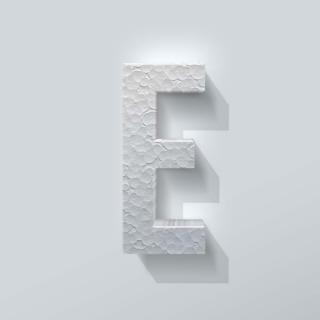 Piepschuim Letter E Bebas Neue
