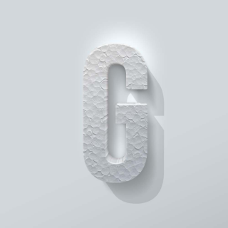 Piepschuim Letter G Bebas Neue