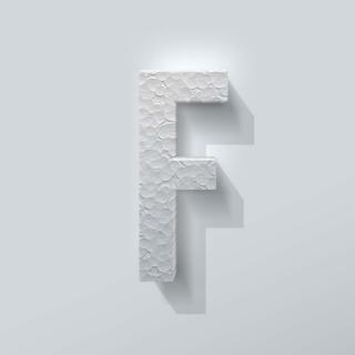 Piepschuim Letter F Bebas Neue